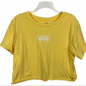 Vans Yellow Crop Top